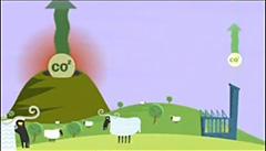 火山のCO2放出量は人為的CO2より多い